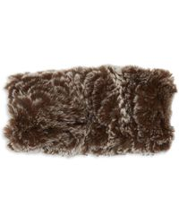 Saks Fifth Avenue Rex Rabbit Fur Headband - Brown