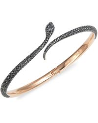 Swarovski Rose Goldtone & Crystals Bangle Bracelet - Multicolour