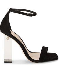 Schutz Sanai Suede Sandals - Black