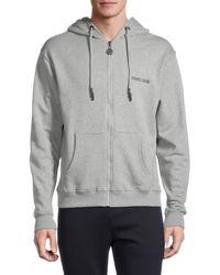 Roberto Cavalli Logo-back Zip-up Hoodie - Grey