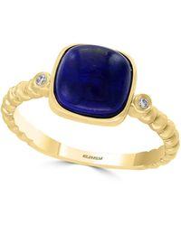 Effy 14k White Gold Diamond, Onyx & Sapphire Evil Eye Charm Bracelet - Multicolour