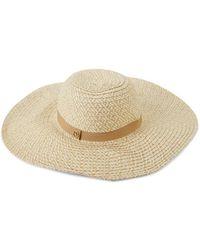 Calvin Klein Women's Wide-brim Straw Hat - Black