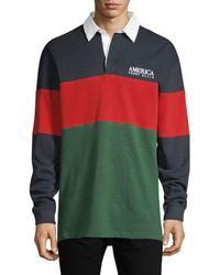 Perry Ellis America Colorblock Cotton Polo - Green