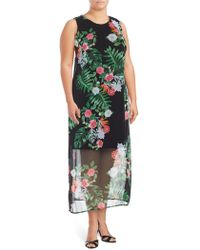 Vince Camuto - Havana Tropical Sleeveless Dress - Lyst