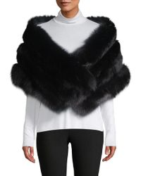 Belle Fare - Dyed Fox And Rabbit Fur Shawl - Lyst
