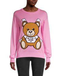 Moschino Bear Logo Sweatshirt - Pink