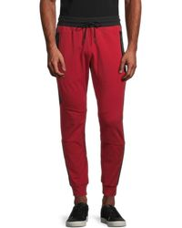 Antony Morato Men's Fleece Drawstring Trousers - Red - Size M