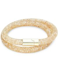 Swarovski Goldtone & Crystal Wrap Bracelet - Multicolour