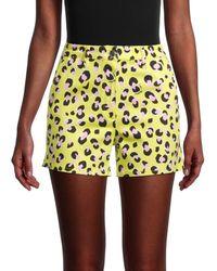Love Moschino Neon Leopard Shorts - Yellow