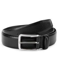 BOSS by Hugo Boss Men's Textured Leather Belt - Black - Size 38