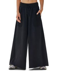 Free People Upbeat Wide-leg Pants - Black