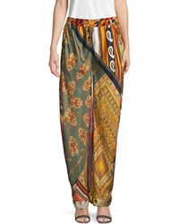 Chloé Mixed-print Silk Trousers - Multicolour