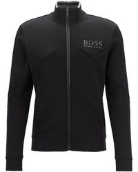BOSS by Hugo Boss Skaz Logo Track Jacket - Grey