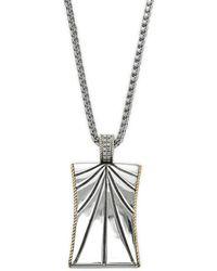 Effy - Sterling Silver & Diamond Pendant Necklace - Lyst