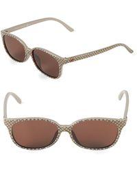 900fb4ef880 Lyst - Gucci 50mm Square Sunglasses in Brown