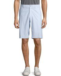 J.Lindeberg Men's Flat-front Regular-fit Shorts - Dark Grey - Size 40