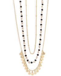 Noir Jewelry - Three-layer Necklace - Lyst