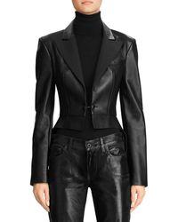 Ralph Lauren Zadie Leather Jacket - Black