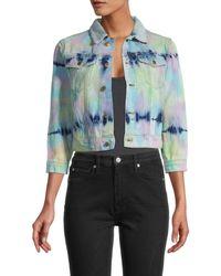 525 America Women's Cropped Denim Jacket - Size Xs - Blue