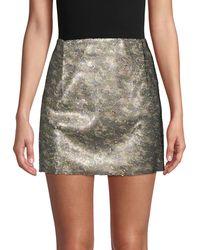 Free People Skinny Sequin Camo Mini Skirt - Green