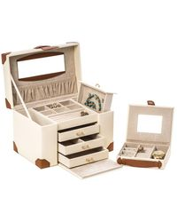 Bey-berk - 4-level Multi-compartment Leather Jewelry Box - Lyst
