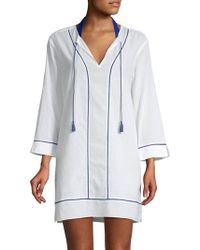 Marabelle - Tie Shirtdress Cover-up - Lyst