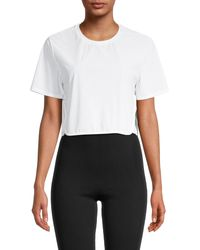 The Upside Track Cropped T-shirt - White