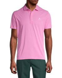 G/FORE Men's Logo Short-sleeve Polo - Cayenne - Size L - Pink