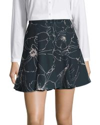Keepsake - Line Drawn Floral Skirt - Lyst