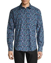 Bugatchi - Multicolored Button-down Shirt - Lyst