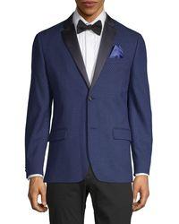 Ben Sherman Diamond-weave Dinner Jacket - Blue