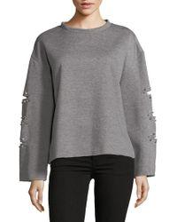 Lea & Viola - Beaded Oversized Sweater - Lyst