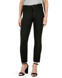 PAIGE Exclusive Luxe Ponte Straight Jeans - Black