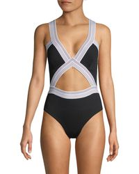 Dolce Vita Cutout 1-piece Swimsuit - Black