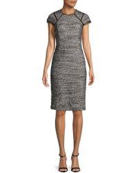 Rebecca Taylor - Tweed Sheath Dress - Lyst