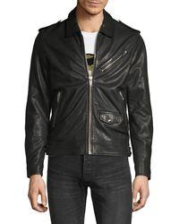 The Kooples Moto Leather Jacket - Black