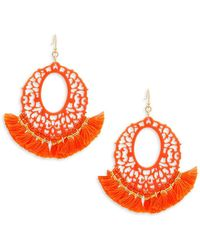 Panacea - Filigree Fringe Drop Earrings - Lyst