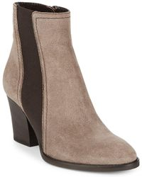 Aquatalia - Contrast Stack Heel Ankle Boots - Lyst