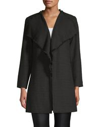 Karl Lagerfeld Textured Tweed Coat - Blue