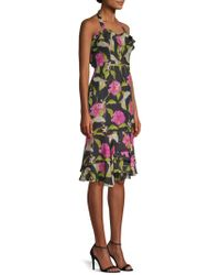 MILLY - Lily Silk Halter Dress - Lyst
