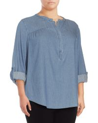 NYDJ - Tessa Long-sleeve Cotton Top - Lyst