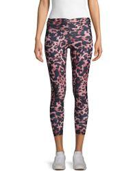 Body Language Reve Leopard-print Active Leggings - Pink