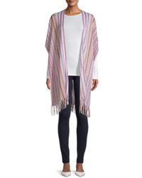 Missoni - Women's Fringe-trim Wrap - Pink - Lyst