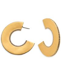 Swarovski Gelanepe Goldtone Crystal Hoops - Multicolour