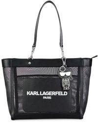 Karl Lagerfeld Women's Adele Logo Tote - Black