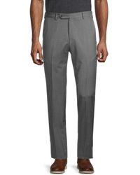 Zanella Men's Parker Class Stretch-wool Trousers - Light Grey - Size 33