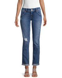 Hudson Jeans Women's Collin Straight-leg Jeans - Tansy - Size 28 (4-6) - Blue