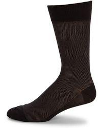 Saks Fifth Avenue - Birdseye Cotton Dress Socks - Lyst