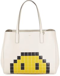 Anya Hindmarch Ebury Pixel Leather Tote - Natural