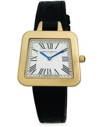 Bruno Magli - Goldtone Stainless Steel & Leather-strap Watch - Lyst